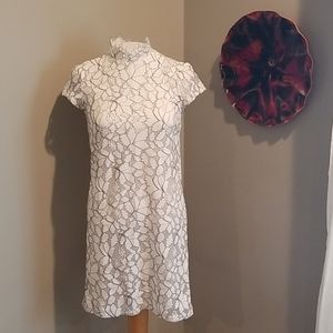 H&M White Lace Overlay Dress Size 2